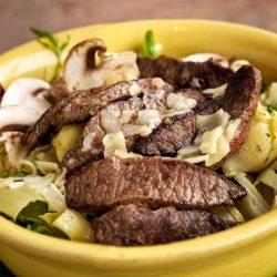 Flat Iron Steak Artichoke Salad